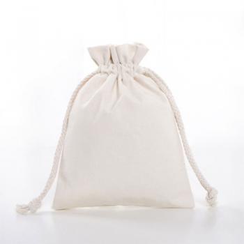 Cotton Canvas Linen Produce Drawstring Shoe Dust Pouch Bag