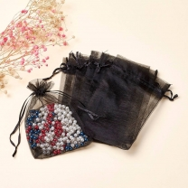 Black Organza Bags Custom Organza Jewelry Packaging Gift Bag