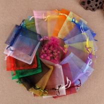 Organza Bag Jewelry Packaging Bags 7x9 9x12 10x15 13x18CM Wedding Party Decoration Drawable Bags Gift Pouches