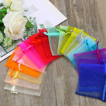Custom Organza Bags Wedding Party Candy Chocolate Bags Gift Pouches Jewelry Storage Drawstring Bags