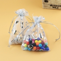 Custom Jewelry Packaging Organza Bags Wedding Party Decoration Drawable Organza Bags Gift Pouches