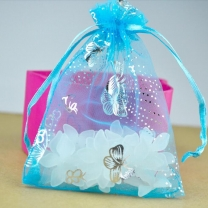 Butterfly Pattern Organza Bag Organza Jewelry Gift Pouch Bags Drawstring Bag
